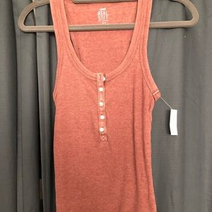 Aerie Henley Tank - Size Small